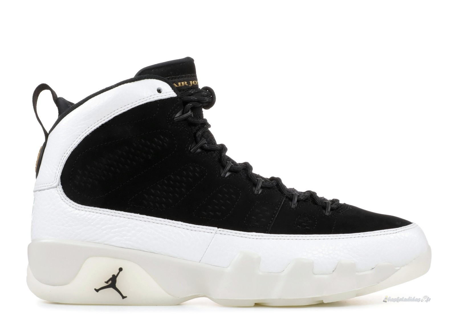 "Chaussure de Basket Air Jordan 9 Retro ""City Of Flight"" Noir Blanc (302370-021)"