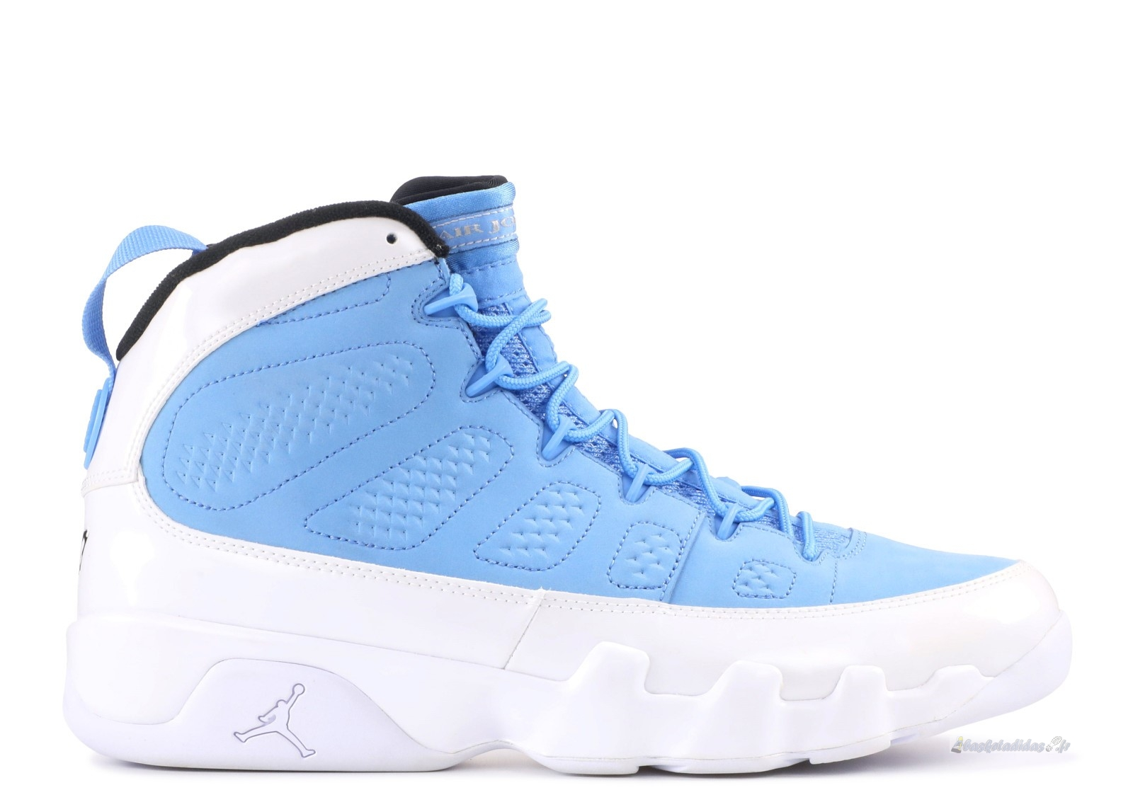 "Chaussure de Basket Air Jordan 9 Retro ""For The Love Of The Game"" Bleu Blanc Noir (302370-401)"