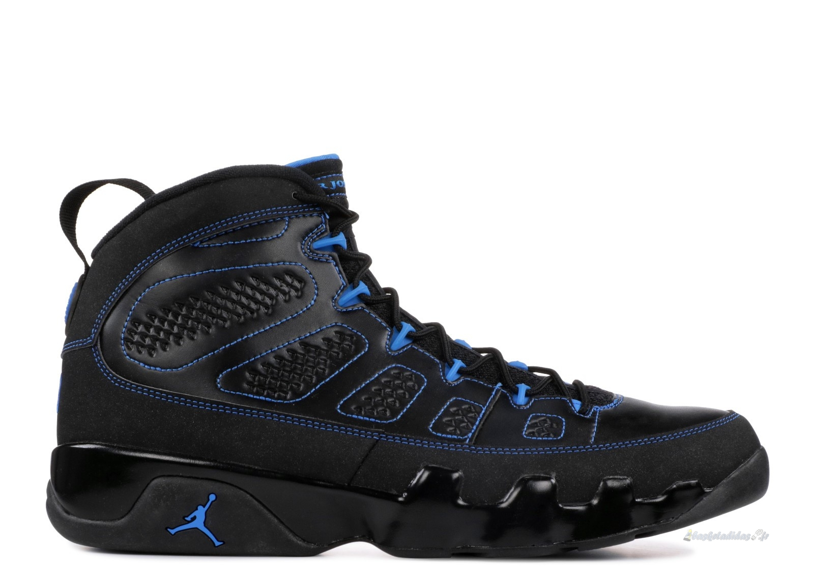 "Chaussure de Basket Air Jordan 9 Retro ""Noir Bottom Photo Blue"" Noir (302370-007)"