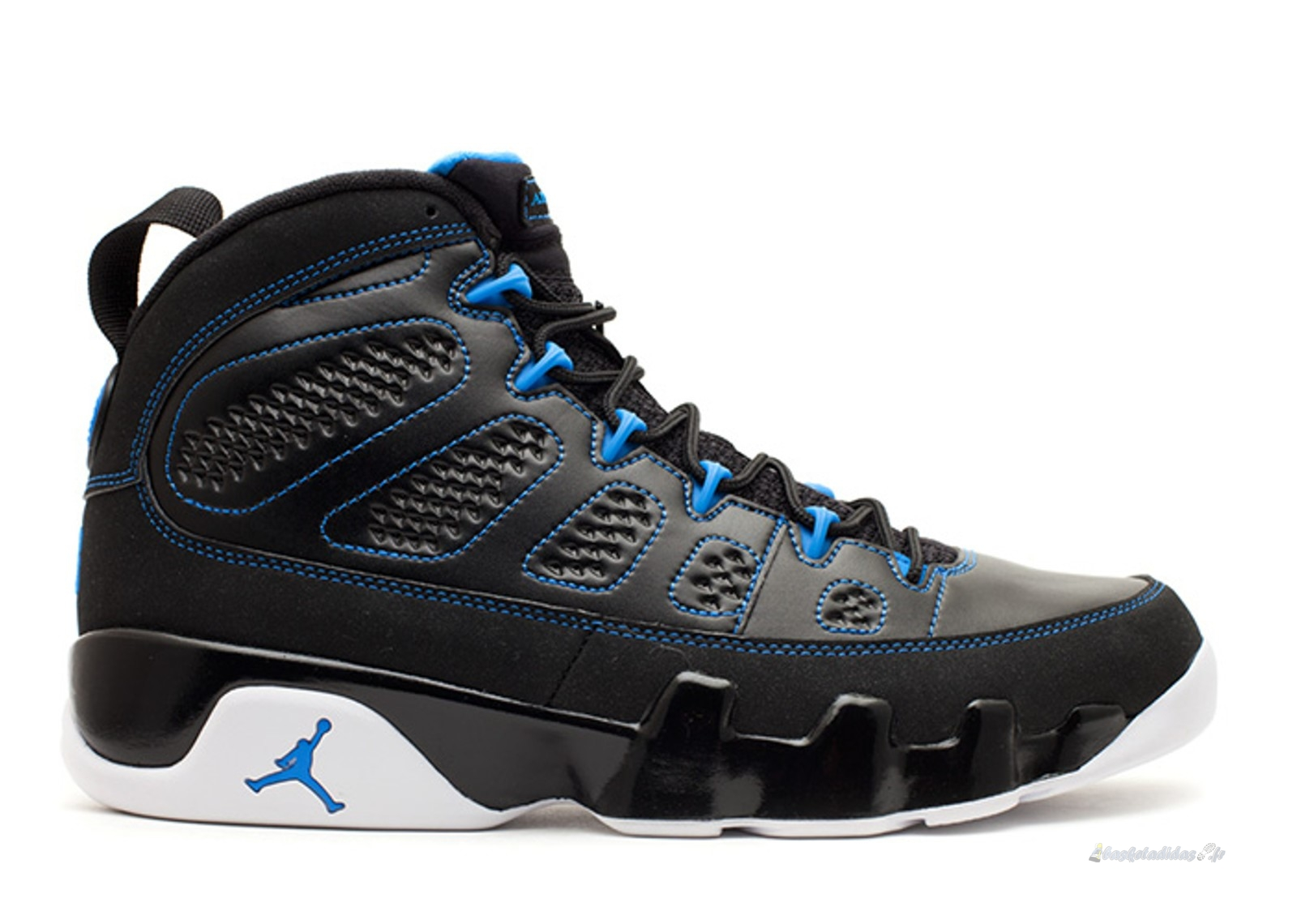 "Chaussure de Basket Air Jordan 9 Retro ""Photo Blue"" Noir Bleu (302370-007)"