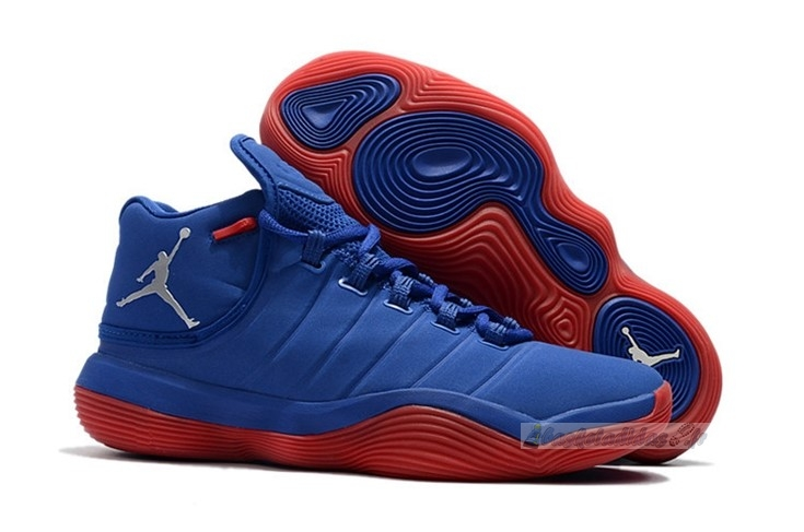 "Chaussure de Basket Air Jordan Super.Fly 2017 ""Blake Griffin"" Bleu Rouge"