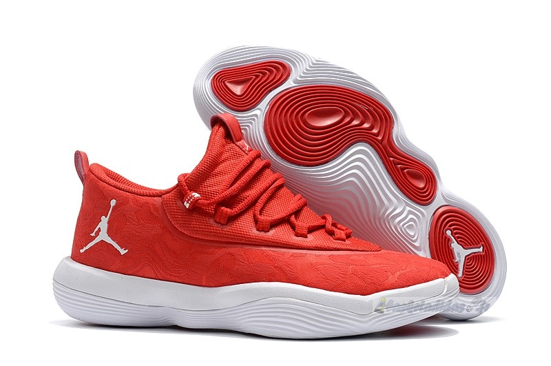 Chaussure de Basket Air Jordan Super.Fly 2017 Low Rouge Blanc