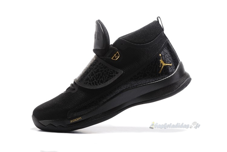 Chaussure de Basket Air Jordan Super.Fly 5 Po Noir Or
