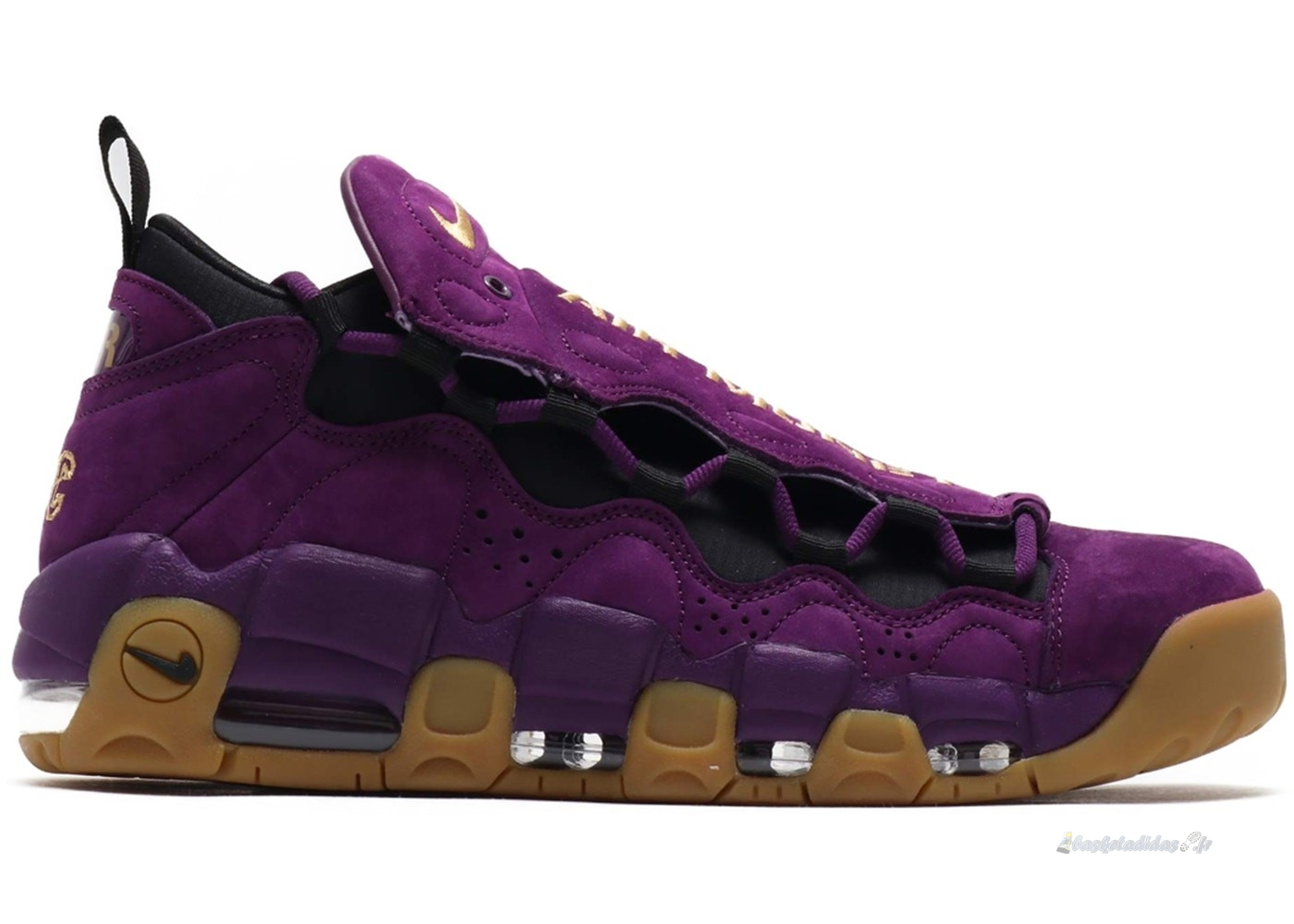 "Chaussure de Basket Air More Money ""Night Purple"" Pourpre Marron (ar5401-500)"