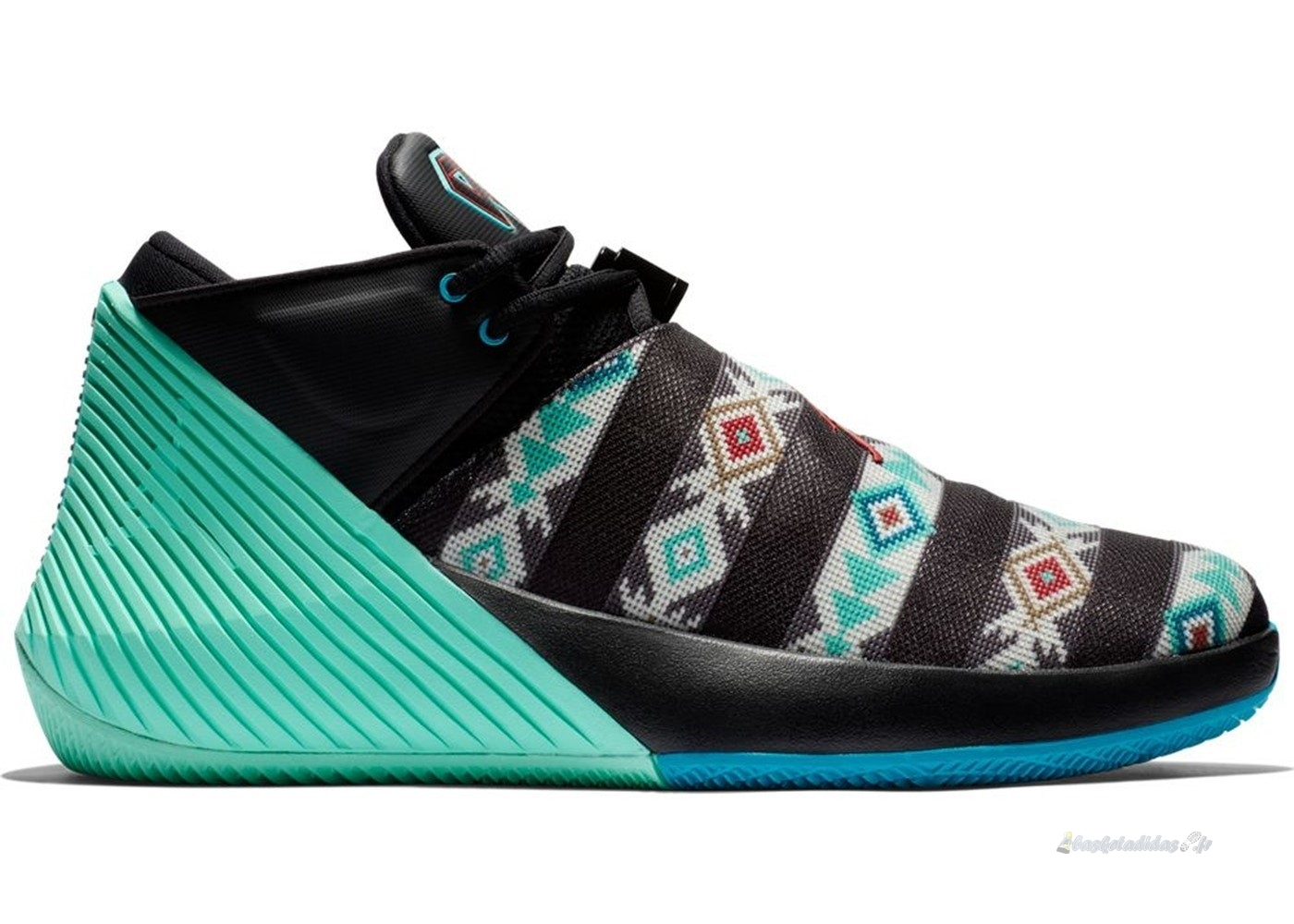 Chaussure de Basket Jordan Why Not Zer0.1 Low N7 Noir Vert (bq2383-001)