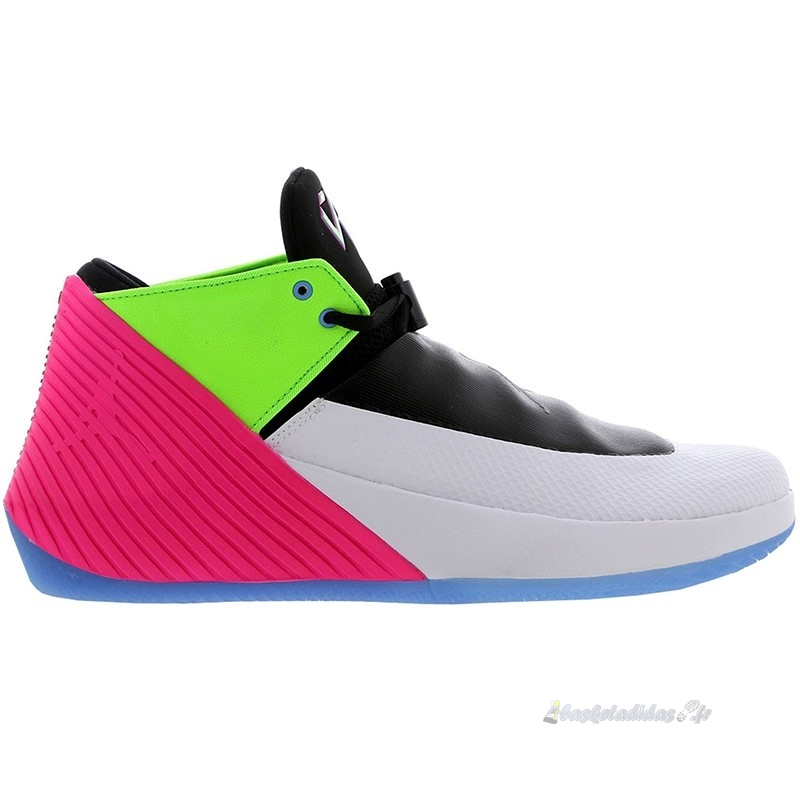 Chaussure de Basket Jordan Why Not Zer0.1 Low Quai54 (2018) Noir Gris Vert Rose (at9190-100)