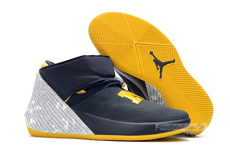"Chaussure de Basket Jordan Why Not Zer0.1 ""Michigan"" Marine Jaune (aa2510-405)"