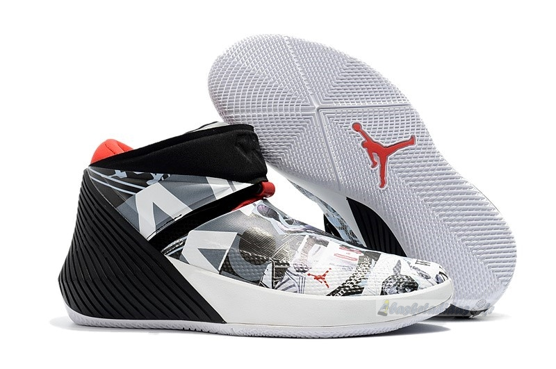 "Chaussure de Basket Jordan Why Not Zer0.1 ""Mirror Image"" Noir Blanc (aa2510-104)"