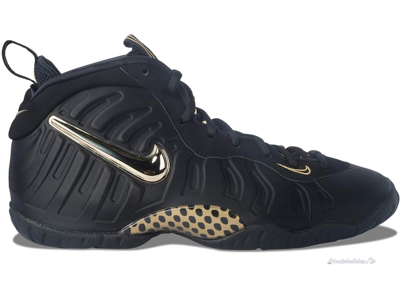 Chaussure de Basket Nike Air Foamposite Pro (Gs) Noir Or (644792-010)