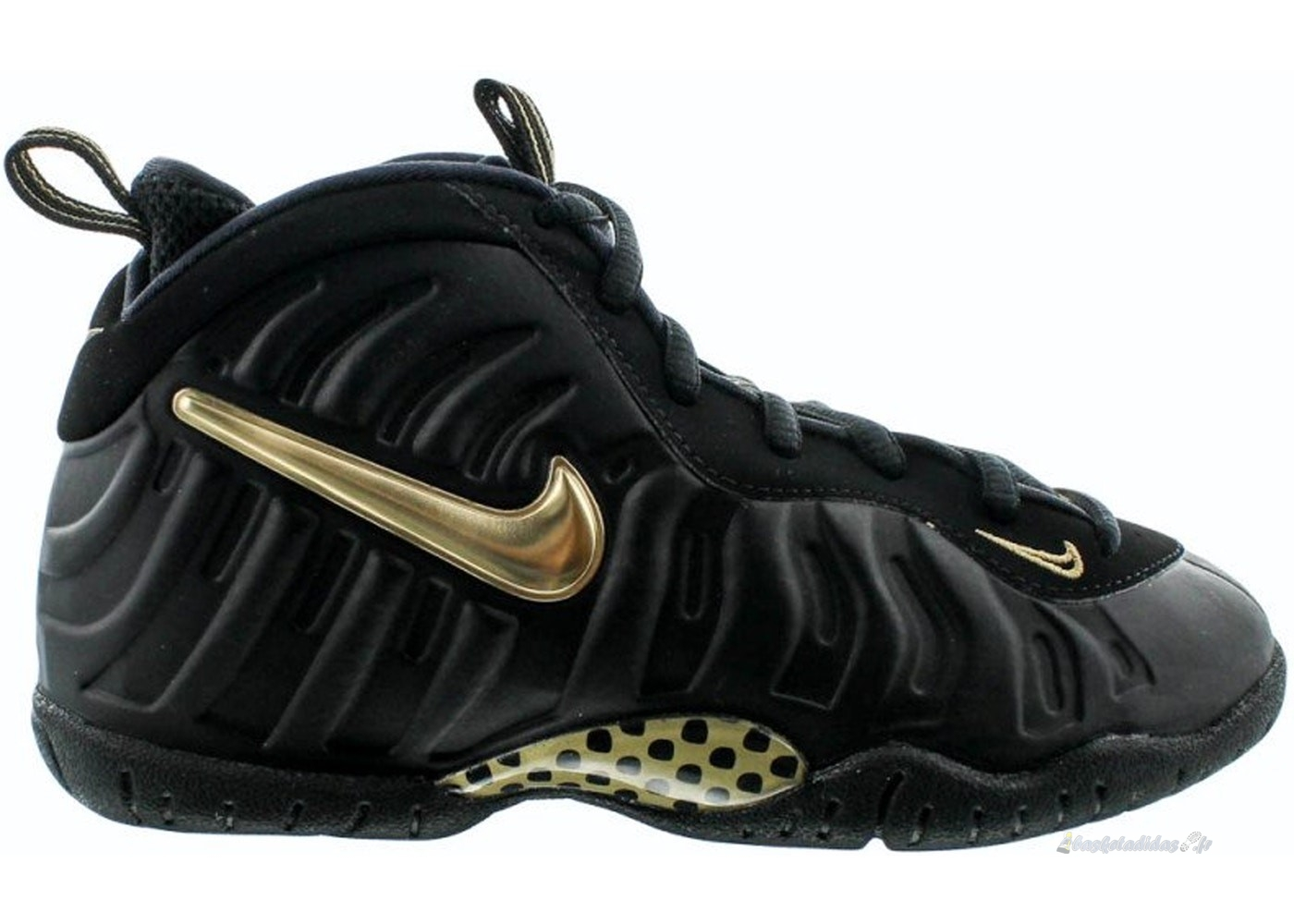 Chaussure de Basket Nike Air Foamposite Pro (Ps) Noir Or (843755-010)