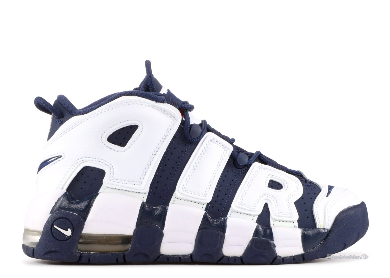 "Chaussure de Basket Nike Air More Uptempo (Gs) ""Olympic"" Blanc Marine (415082-104)"