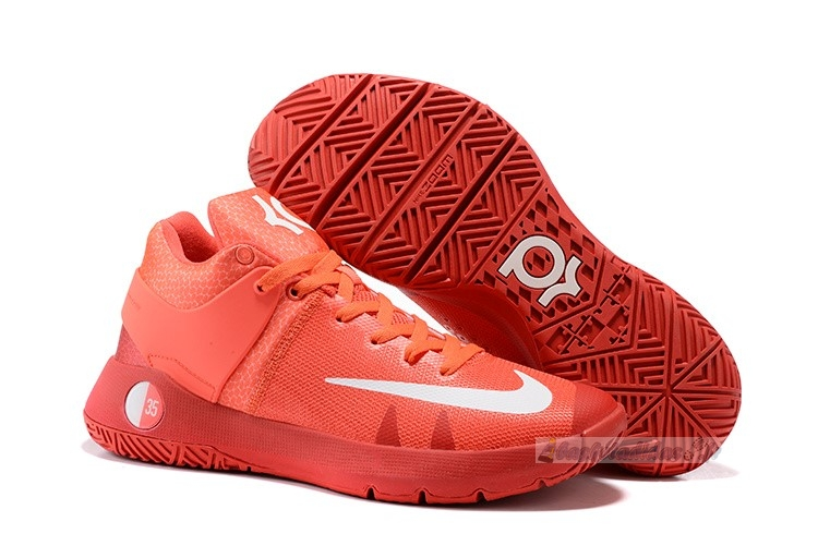 Chaussure de Basket Nike Kd Trey 5 Iv Orange Blanc