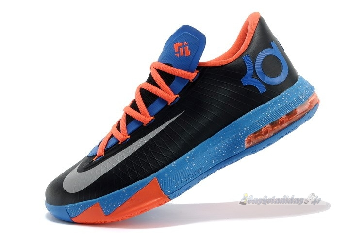 "Chaussure de Basket Nike Kd Vi 6 ""Okc Away"" Noir Orange Bleu (599424-004)"