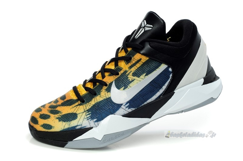 "Chaussure de Basket Nike Kobe Vii 7 ""Cheetah"" Orange Gris Noir"