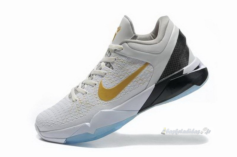 "Chaussure de Basket Nike Kobe Vii 7 Elite ""Home"" Blanc Métallique Or"