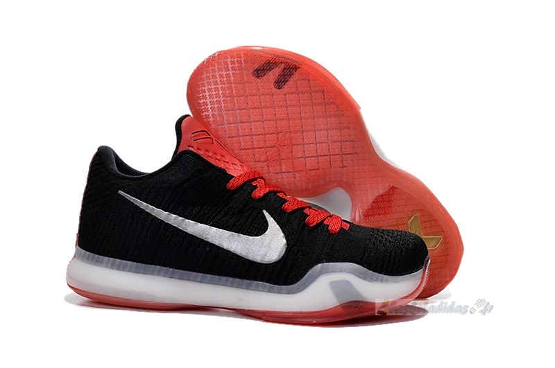 Chaussure de Basket Nike Kobe X 10 Elite Low Noir Rouge