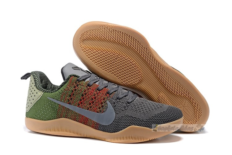 "Chaussure de Basket Nike Kobe Xi 11 Black ""Horse Black"" Red Green"