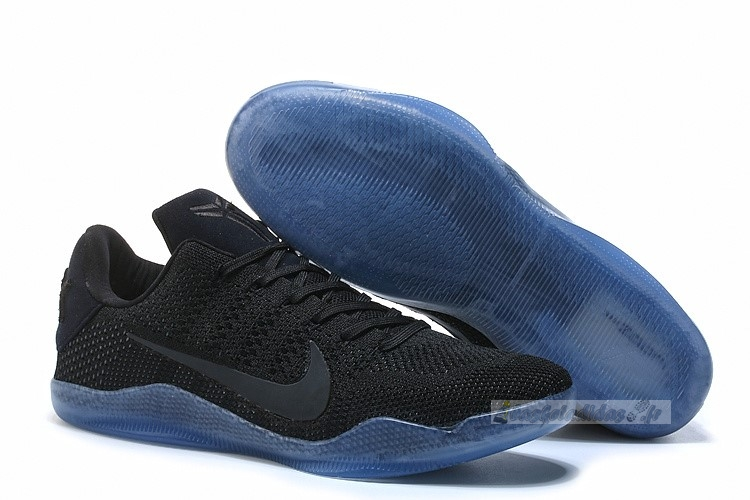 "Chaussure de Basket Nike Kobe Xi 11 Elite Low ""Black Space"" Tout Noir"