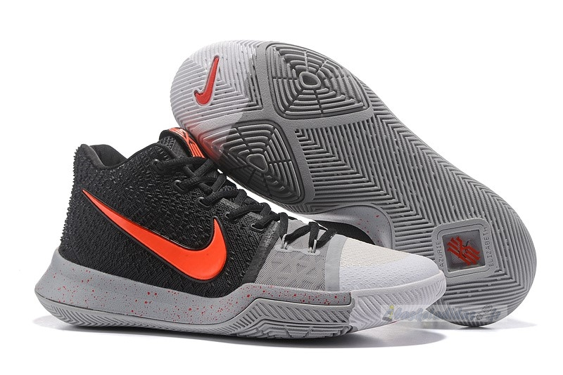"Chaussure de Basket Nike Kyrie Irving Iii 3 ""White Toe"" Black Red"