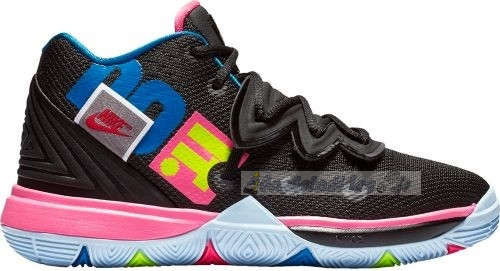 "Chaussure de Basket Nike Kyrie Irving V 5 ""Just Do It"" (Gs) Noir Rose Bleu (aq2456-003)"