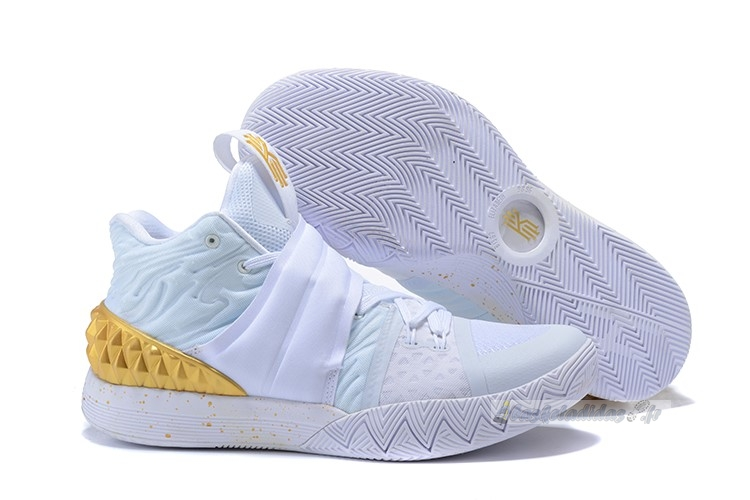 Chaussure de Basket Nike Kyrie S1 Hybrid Blanc Or