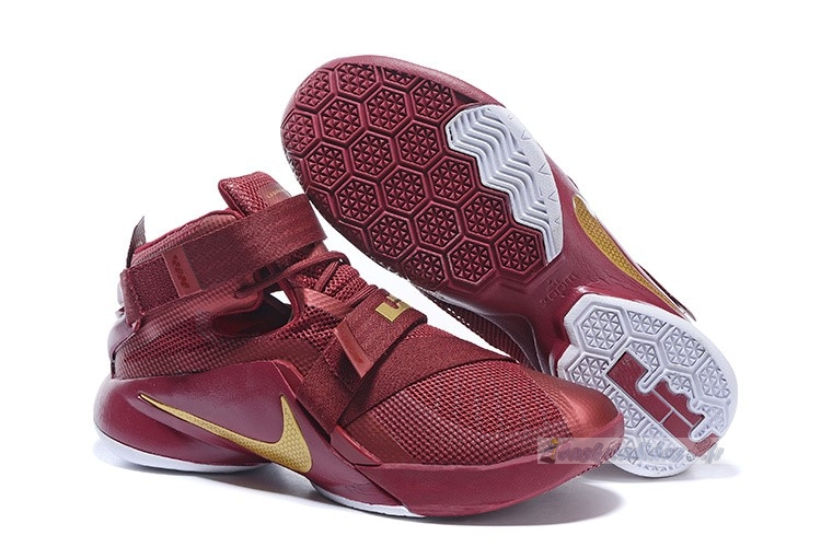 Chaussure de Basket Nike Lebron Soldier Ix 9 Rouge Or