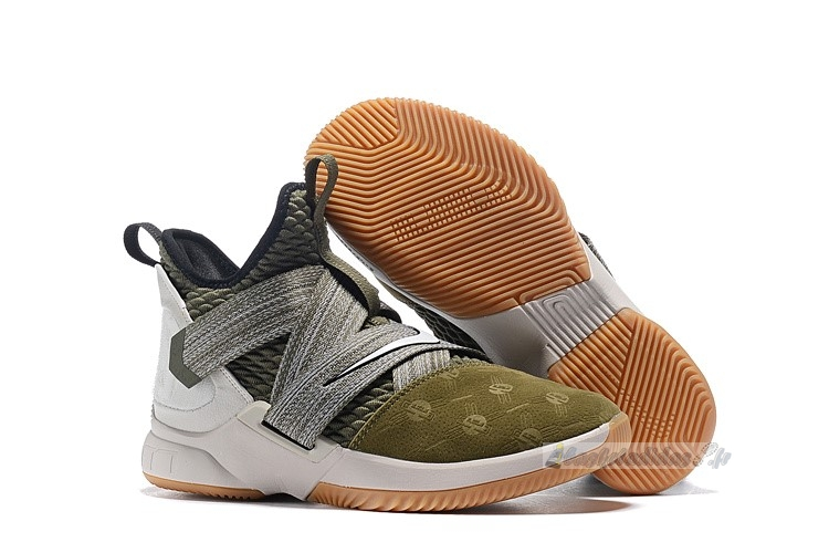 "Chaussure de Basket Nike Lebron Soldier Xii 12 ""Land And Sea"" Olive Vert"