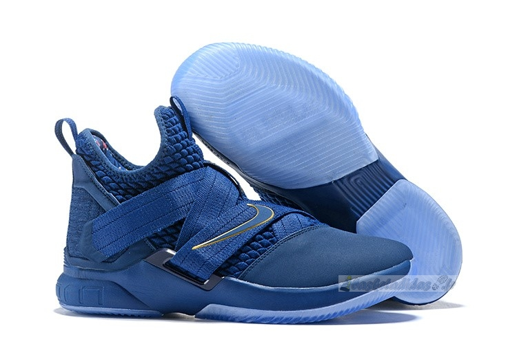 Chaussure de Basket Nike Lebron Soldier Xii 12 Marine Or