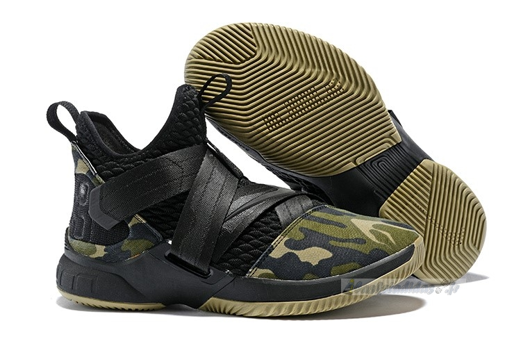 Chaussure de Basket Nike Lebron Soldier Xii 12 Sfg Camo Black