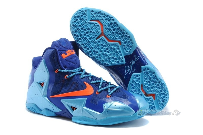Chaussure de Basket Nike Lebron Xi 11 Bleu Orange
