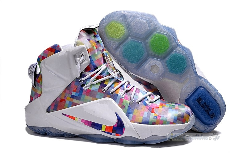 "Chaussure de Basket Nike Lebron Xii 12 Ext ""Prism"" Rouge Blanc"
