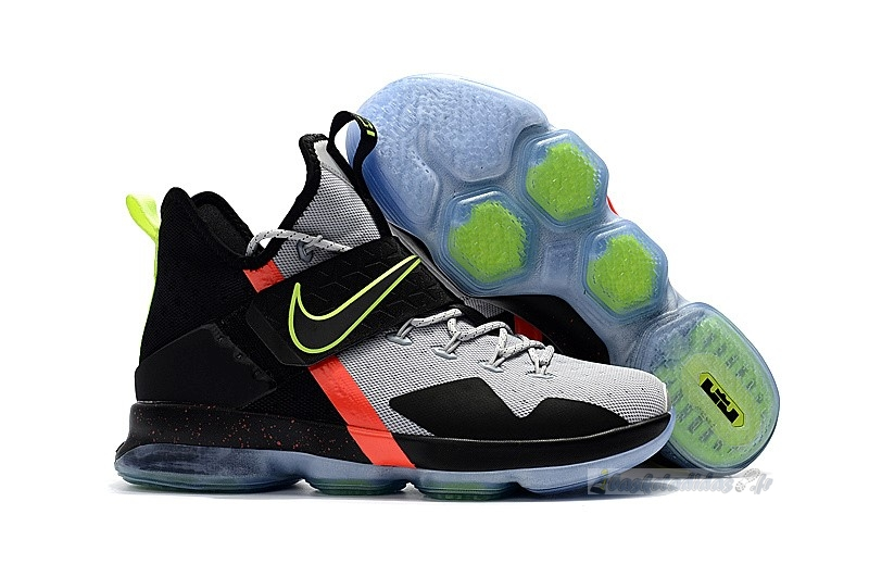 Chaussure de Basket Nike Lebron Xiv 14 Blackgrey Volt Red