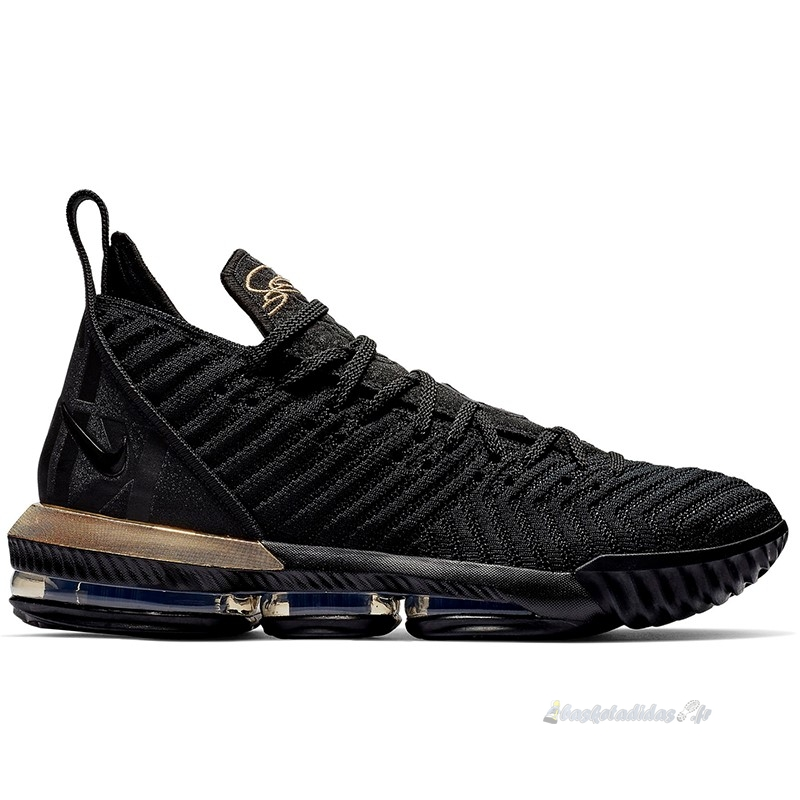 "Chaussure de Basket Nike Lebron Xvi 16 Low ""Im King"" Noir Or (bq5969-007)"