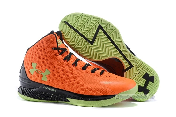 "Chaussure de Basket Under Armour Curry 1 ""Bolt Orange"" Orange Noir"