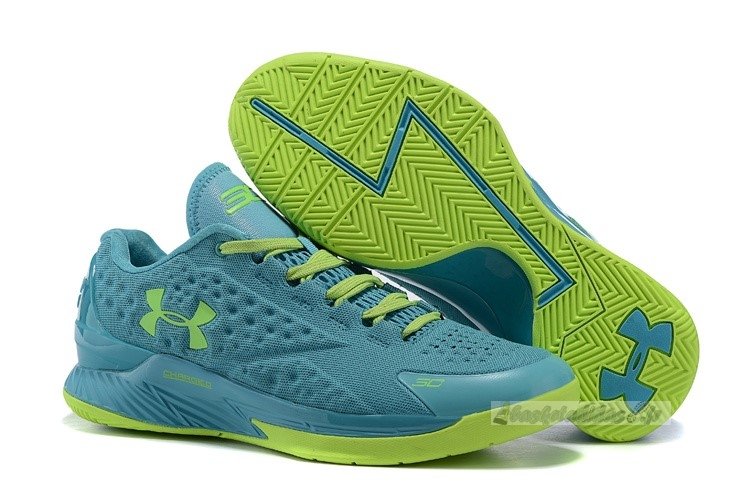 Chaussure de Basket Under Armour Curry 1 Low Vert Volt