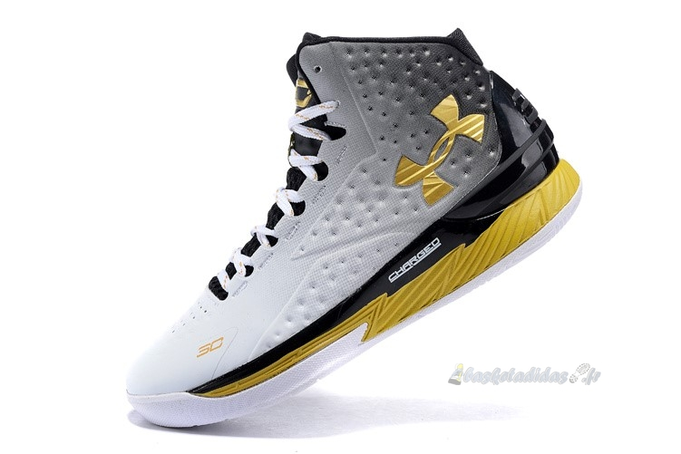 "Chaussure de Basket Under Armour Curry 1 ""Mvp"" Noir Blanc Or"