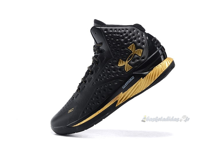 "Chaussure de Basket Under Armour Curry 1 ""Mvp"" Noir Métallique Or"