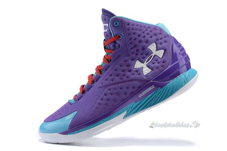 Chaussure de Basket Under Armour Curry 1 Pourpre Bleu