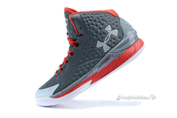 "Chaussure de Basket Under Armour Curry 1 ""Underdog"" Gris Rouge"