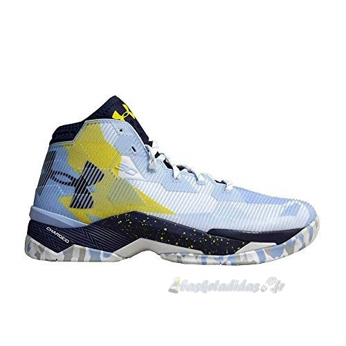 Chaussure de Basket Under Armour Curry 2.5 Bleu Jaune