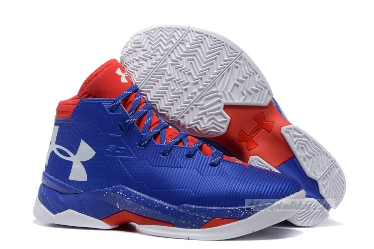 Chaussure de Basket Under Armour Curry 2.5 Bleu Rouge