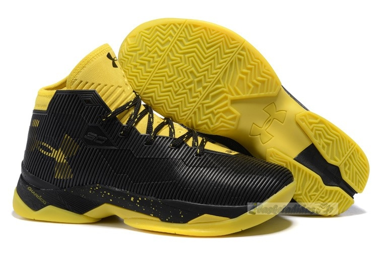 "Chaussure de Basket Under Armour Curry 2.5 ""Noir Taxi"" Noir"