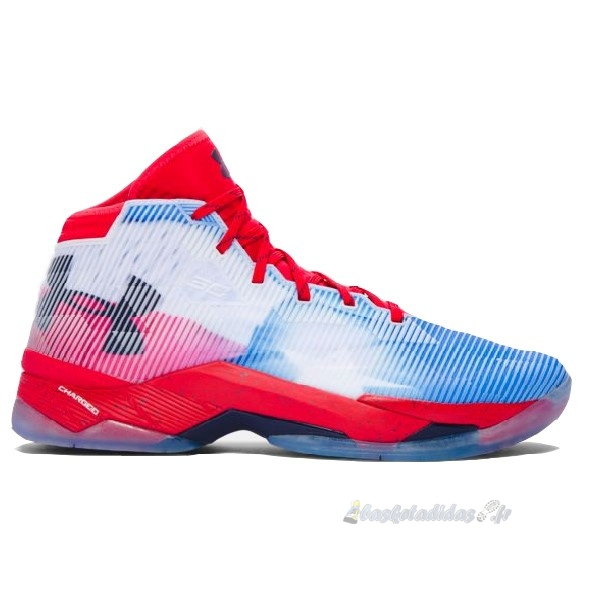 "Chaussure de Basket Under Armour Curry 2.5 ""Texas"" Blanc Rouge"