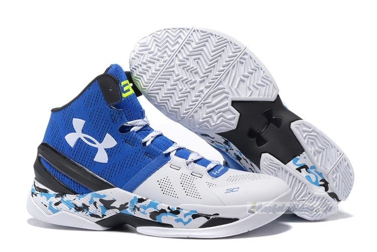 Chaussure de Basket Under Armour Curry 2 Camo Bleu Blanc
