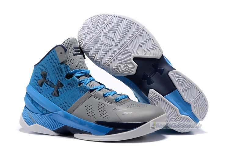 "Chaussure de Basket Under Armour Curry 2 ""Electric Blue"" Bleu Gris"