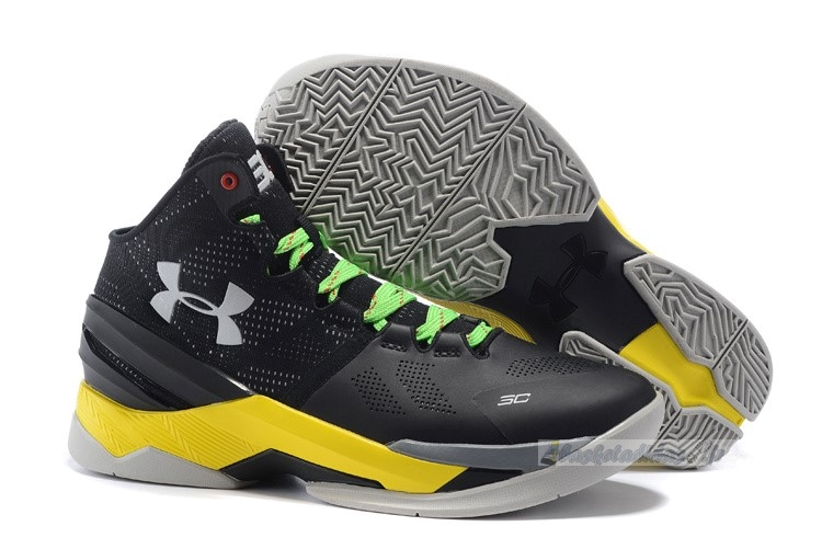 Chaussure de Basket Under Armour Curry 2 Gris Jaune