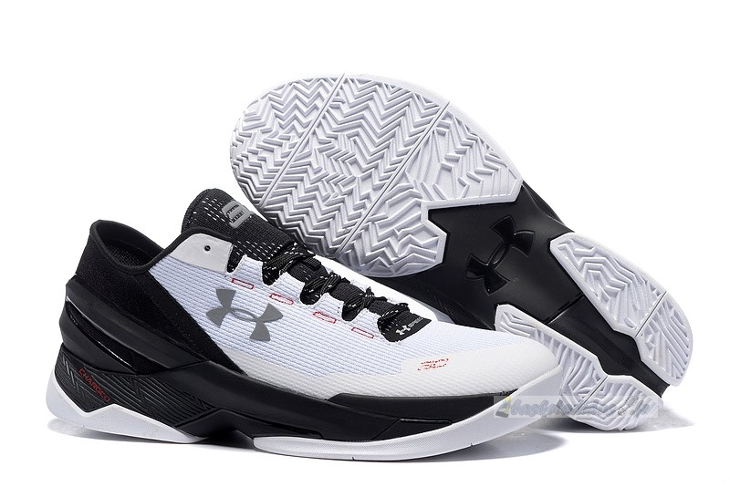 Chaussure de Basket Under Armour Curry 2 Low Blanc Noir