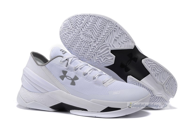 Chaussure de Basket Under Armour Curry 2 Low Blanc