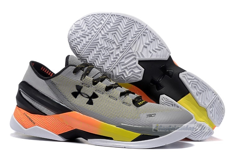 Chaussure de Basket Under Armour Curry 2 Low Gris Orange