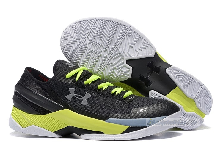 Chaussure de Basket Under Armour Curry 2 Low Noir Argent Volt